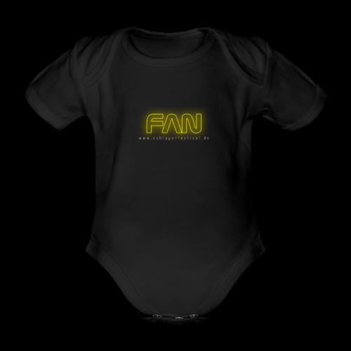 Fan (neon) - Baby Bio-Kurzarm-Body