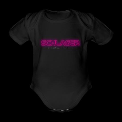 Schlager (Neon) - Baby Bio-Kurzarm-Body