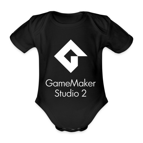 GMS2_Center_DblLine_Clean - Organic Short-sleeved Baby Bodysuit