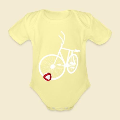 Radball   White - Baby Bio-Kurzarm-Body