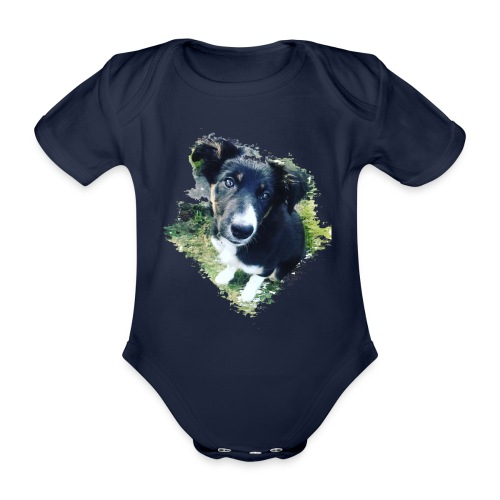 colliegermanshepherdpup - Organic Short-sleeved Baby Bodysuit