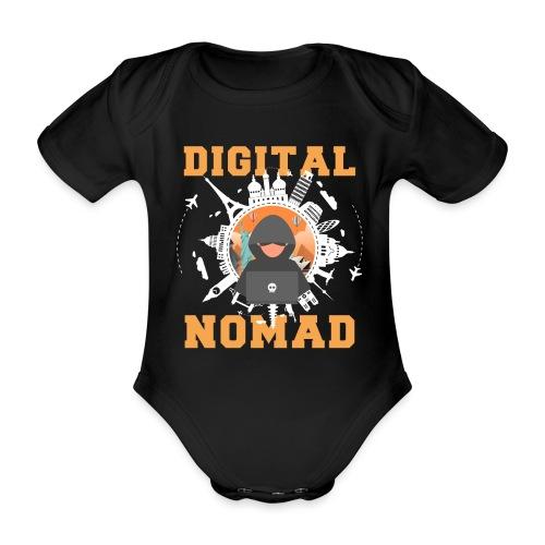 Digital Nomad - Baby Bio-Kurzarm-Body