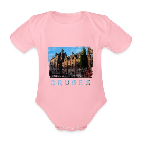 Bruges | Old houses - Baby bio-rompertje met korte mouwen