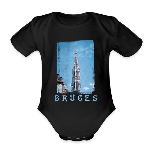Bruges | Belfort - Baby bio-rompertje met korte mouwen