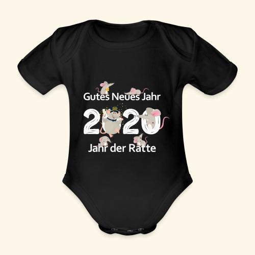 Gutes Neues Jahr der Ratte 2020 China Horoskop - Baby Bio-Kurzarm-Body