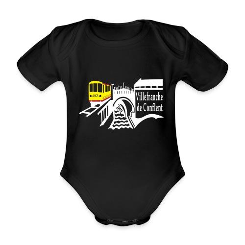 train jaune villefranche de conflent - Baby Bio-Kurzarm-Body