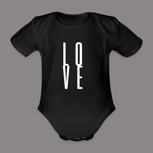 LOVEwhite - Baby Bio-Kurzarm-Body