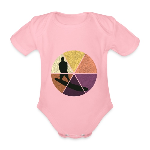 Wellenreiten - Baby Bio-Kurzarm-Body