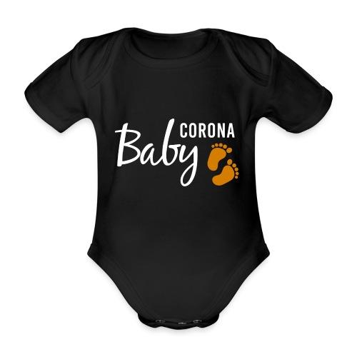 Baby Corona Babybauch Quarantäne Schwangerschaft - Baby Bio-Kurzarm-Body