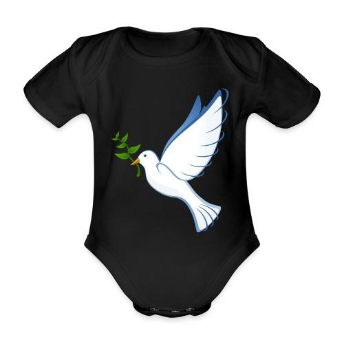 Friedenstaube - Baby Bio-Kurzarm-Body