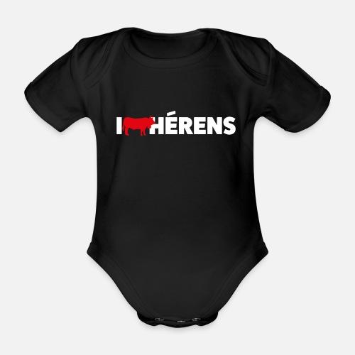 I LOVE HÉRENS - Baby Bio-Kurzarm-Body
