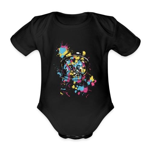 Space Cat - Baby Bio-Kurzarm-Body