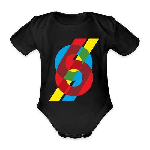 colorful numbers - Organic Short-sleeved Baby Bodysuit