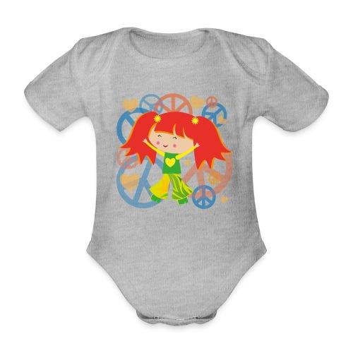 Happy Meitlis - Be Happy - Baby Bio-Kurzarm-Body