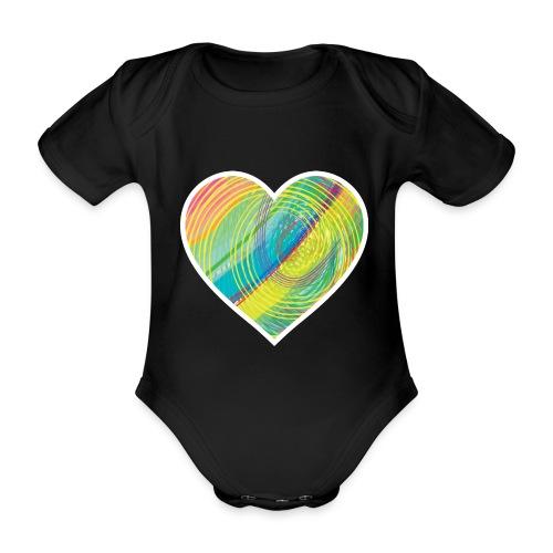 Spread the Love - Organic Short-sleeved Baby Bodysuit