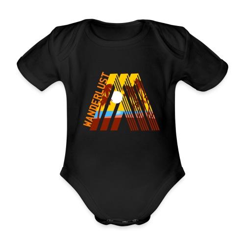 Reisen Weltreise Travelshirt Strand Sonne Palmen - Baby Bio-Kurzarm-Body