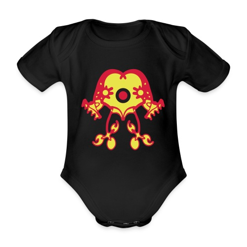 Tribal Design T-Shirt - Baby Bio-Kurzarm-Body