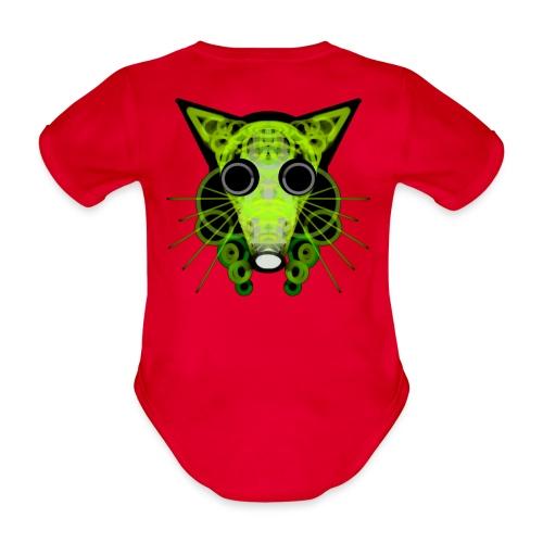 strange head of a rat in punk style - Organic Short-sleeved Baby Bodysuit