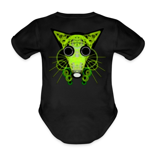strange head of a rat in punk style - Organic Short-sleeved Baby Bodysuit