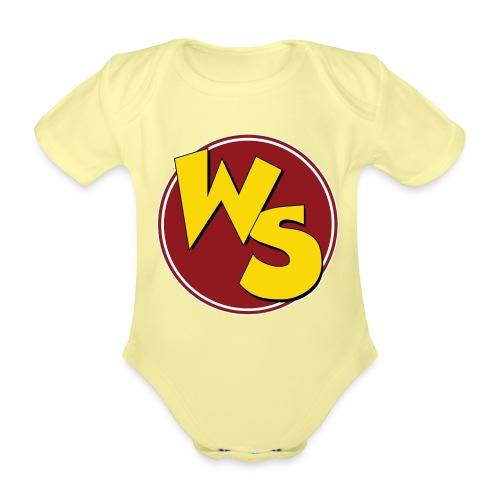 wsvectorlogoshirt90mm - Organic Short-sleeved Baby Bodysuit