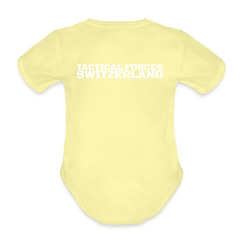 Tactical Forces Switzerland Stencil white back - Body Bébé bio manches courtes