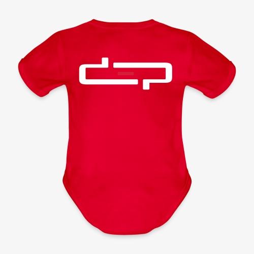 deplogo1neg red - Økologisk kortermet baby-body