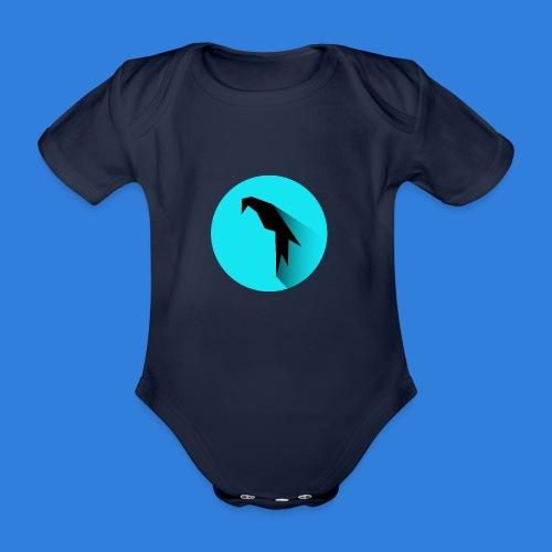 Parrot Logo + Prompt - Organic Short-sleeved Baby Bodysuit