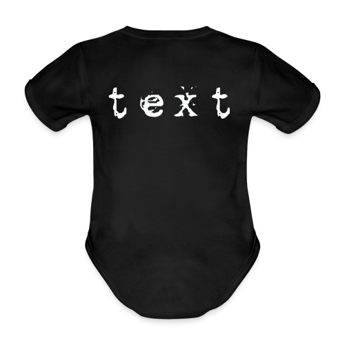text - Baby Bio-Kurzarm-Body