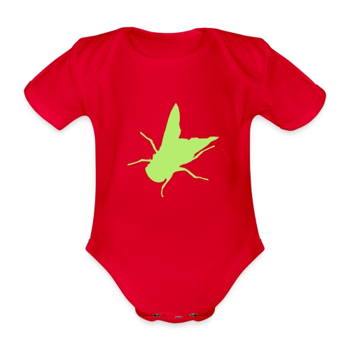 fliege - Baby Bio-Kurzarm-Body