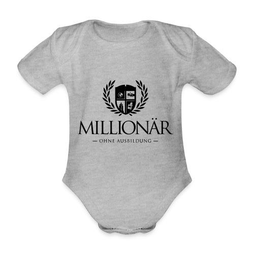 Millionär ohne Ausbildung Shirt - Baby Bio-Kurzarm-Body
