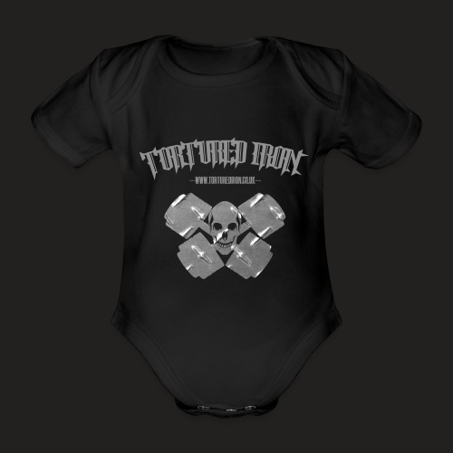 skull - Organic Short-sleeved Baby Bodysuit