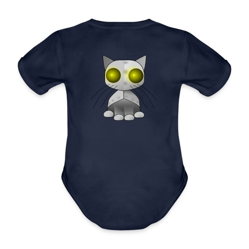 robotkatt - Organic Short-sleeved Baby Bodysuit