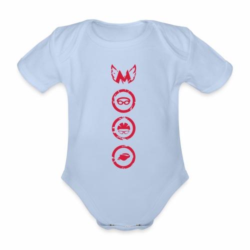 Mosso_run_swim_cycle - Body ecologico per neonato a manica corta