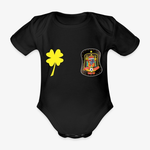 Trébol de la suerte CEsp - Body orgánico de maga corta para bebé