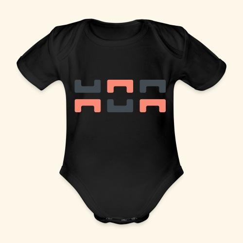 Bezier Elephant, by Hoa - Organic Short-sleeved Baby Bodysuit