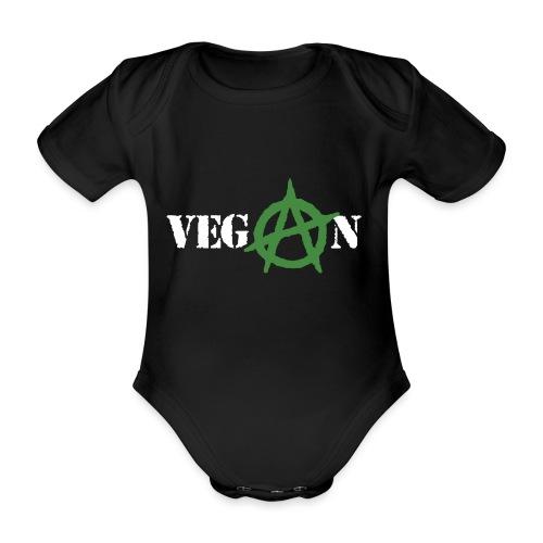 vegan anarchy - Body ecologico per neonato a manica corta