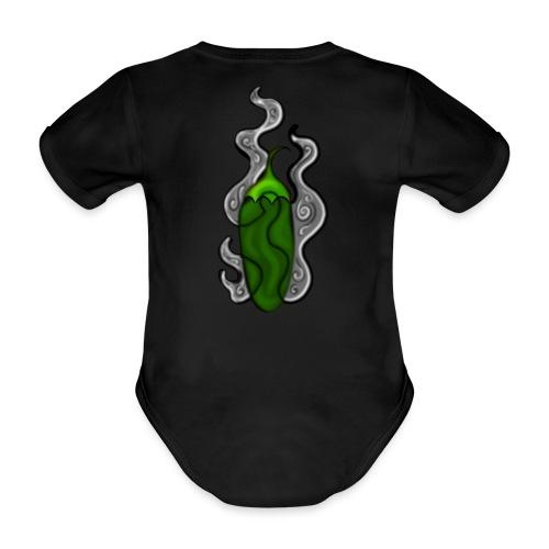 röka grön chipotle het morita, svart grå rykande - Ekologisk kortärmad babybody