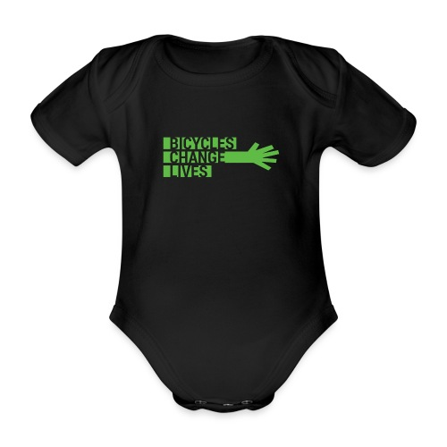 BCL Shirt Back White - Organic Short-sleeved Baby Bodysuit