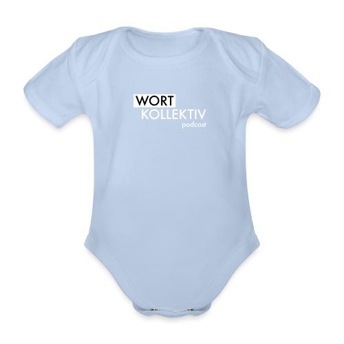 Wortkollektiv Schriftzug weiß - Baby Bio-Kurzarm-Body