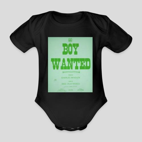 boy wanted1 2 jpg - Body Bébé bio manches courtes