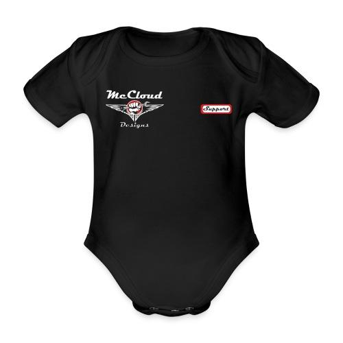 McCloud Borstlogo - Baby bio-rompertje met korte mouwen