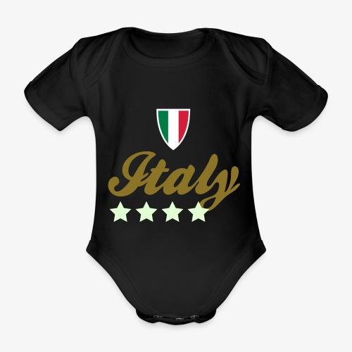 Gruppo di stelle Italia - Body ecologico per neonato a manica corta
