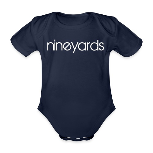 Nineyards text - Organic Short-sleeved Baby Bodysuit