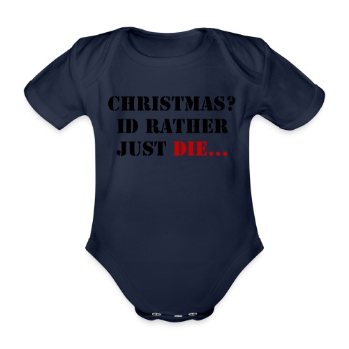 Christmas joy - Organic Short-sleeved Baby Bodysuit