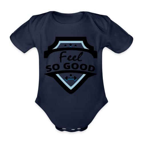 feelsogood white - Baby bio-rompertje met korte mouwen