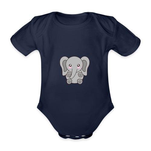 elefante - Organic Short-sleeved Baby Bodysuit