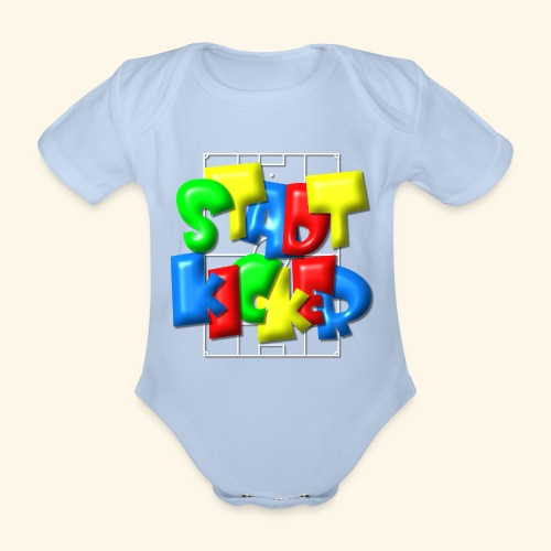 Stadtkicker im Fußballfeld - Balloon-Style - Baby Bio-Kurzarm-Body