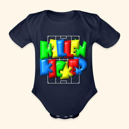 Hallenkicker im Fußballfeld - Balloon-Style - Baby Bio-Kurzarm-Body
