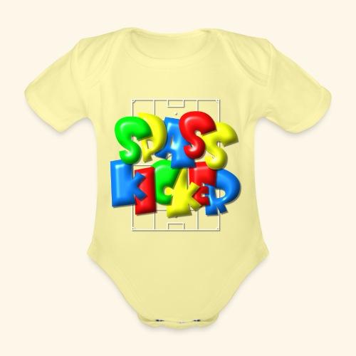 Spass Kicker im Fußballfeld - Balloon-Style - Baby Bio-Kurzarm-Body
