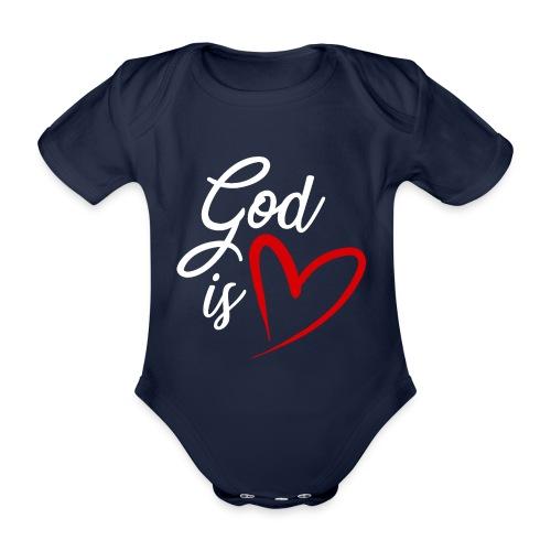 God is love 2B - Body ecologico per neonato a manica corta